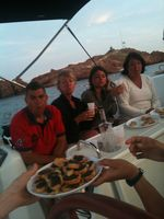 Cocktail hour on the boat