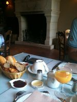 Breakfast at our hotel