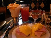 Eggs Benedict at the Wolseley