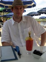 Johann with his rum punch in Porquerolles