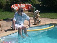 Johann by the pool
