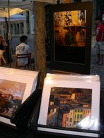 Photographer's stand in Aix-en-Provence