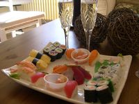 Sushi platter and Champagne to start