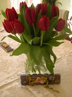 Flowers and candy