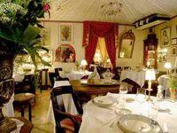 The elegant dining room at La Cognette