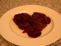 Heart beets. Fresh beets from our winter garden