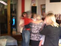 Some dancing at Johann's mother's birthday party