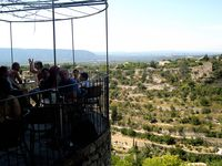 Café terrace in Gordes