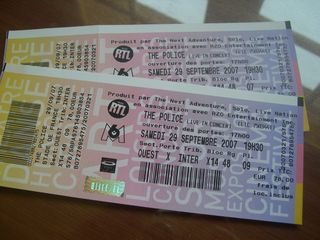 Police Concert Tickets!